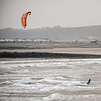 Coney Beach Kitesurfer