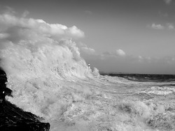 Giant Waves in Porthcawl, Coney Beach photo