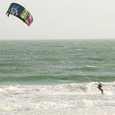 wild kitr-surfing, Bournemouth Pier