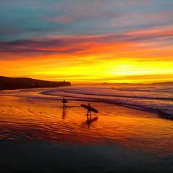 Sunset surf, Castlerock photo
