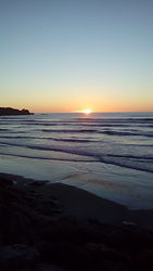Punakaiki sunset. photo
