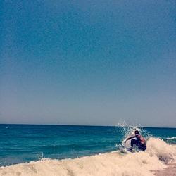 Skimboarding on Vilano, Vilano Beach photo