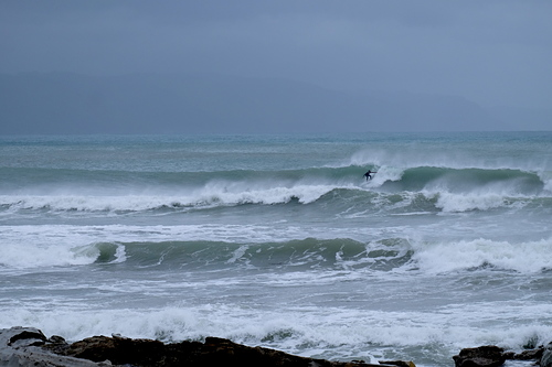 Strong Offshore Wind at Boat Harbour