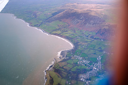Llyn Peninsula from the air, Trefor photo