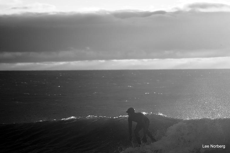 """Silhouette Surfer"", Garden City Pier"
