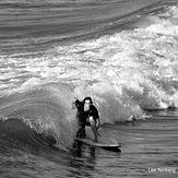 """Surfer Silhouette"", Garden City Pier"