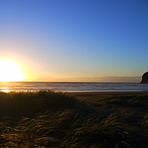 Sunset surf, Bethell's Beach / Te Henga