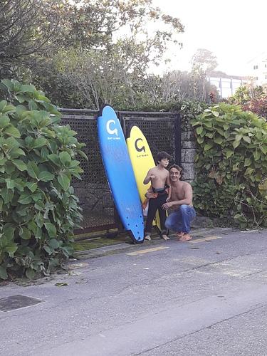 listo para el surfing, Playa de Bastiagueiro