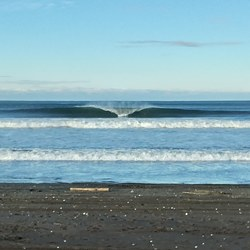 A frame looking lonely without a surfer., Ocean Shores photo