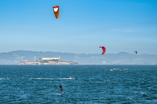 Kite Surfing San Francisco Bay, Fort Point