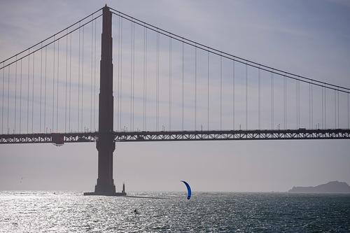 Golden Gate Bridge, Kitesurfing, Fort Point