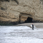 Año Nuevo State Park, Cove Beach Surfing, Laguna Creek