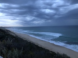 Stormy morning surf, Portsea Back Beach photo