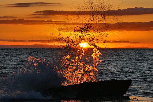 Stained Glass Sunset, Laguna Beach