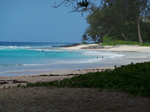 Accra Beach from the Tiki Bar, Accra Beach - Rockley Beach