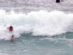 Legendary body surf Jake viskovich in a death slab, Dum Dums photo