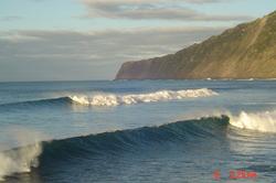 Double waves in the Azores, Faial - Praia do Norte photo