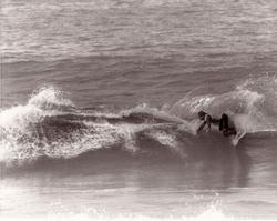 Mark Bell surfing Mark Richards board, Catherine Hill Bay photo