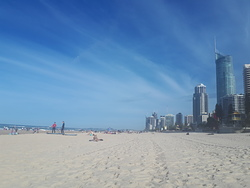 Facing south from Surfers Paradise.  photo