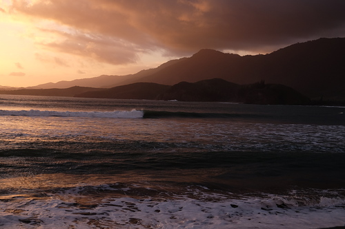 Sunset at the Nera Rivermouth