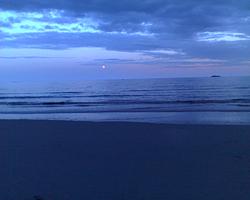 Moon rising, Nahant Beach photo