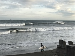 On a really good (pre-typhoon) day, Chigasaki Jetty photo