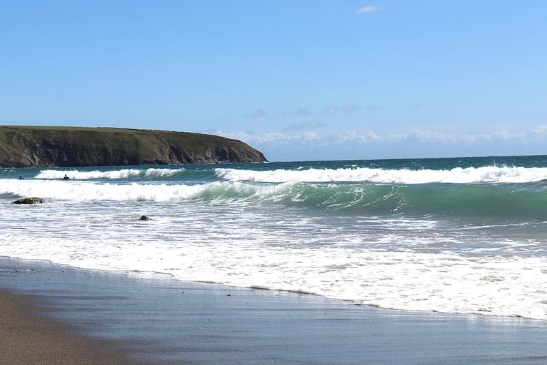 Aberdaron surf break
