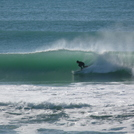Chalet - day 3 of a south swell, Wainui Beach - Pines