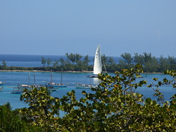 Sailboat viewed from Ft Charlotte 2008, Paradise Island photo