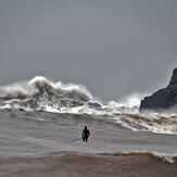 plantando cara al temporal, Playa de karraspio