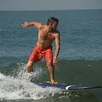 Royal Enfield surfing, Kudle -Beach (Gokarna)
