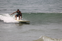 Brian Marius going left, Refugio State Beach photo