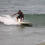Brian Marius going left, Refugio State Beach