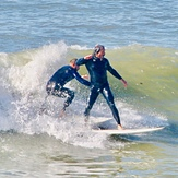 Tandem wave riders, Royal Palms State Beach