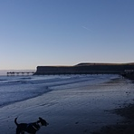 Saltburn beach, Huntcliff