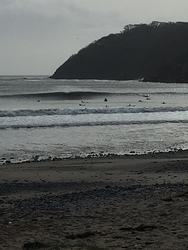 cold morning sesh, Oxwich Bay photo