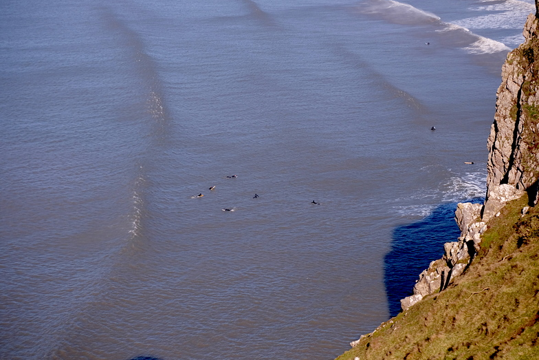 Mellow longboard waves at Rhossili