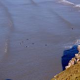 Mellow longboard waves at Rhossili