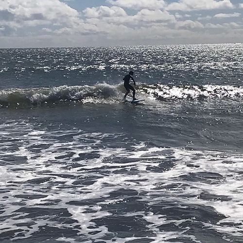 Small day at Doran on a foamie, Doran Beach