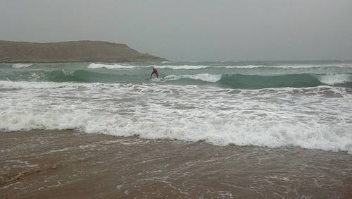 Mubarak village surfers