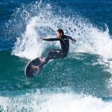 Surfing at Winkipop