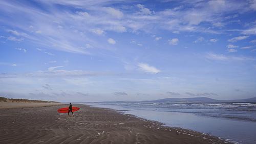 Gentle surf, Cefn Sidan, Pembrey