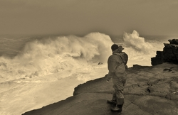breaking wave, St Finan's Bay photo