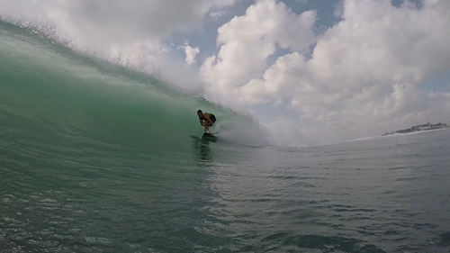 Andy on a barrel, Sea Cliff