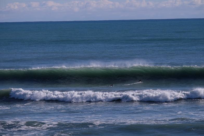 Wharariki groundswell - two out, Wharariki Beach