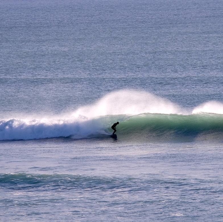 Nice clean surf conditions at Wharariki, Wharariki Beach