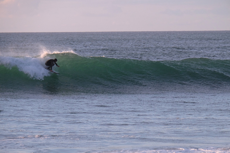 Clean surf at Fossil Point, Farewell Spit