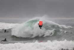 Iain Campbell on a backy at The Wedge photo
