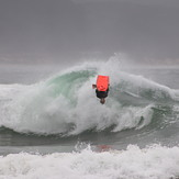Iain Campbell on a backy at The Wedge