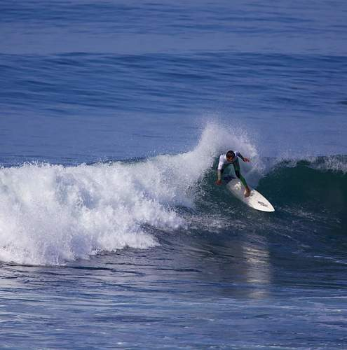 Brandon Garcia riding a couple of waves, Tijuana Sloughs
